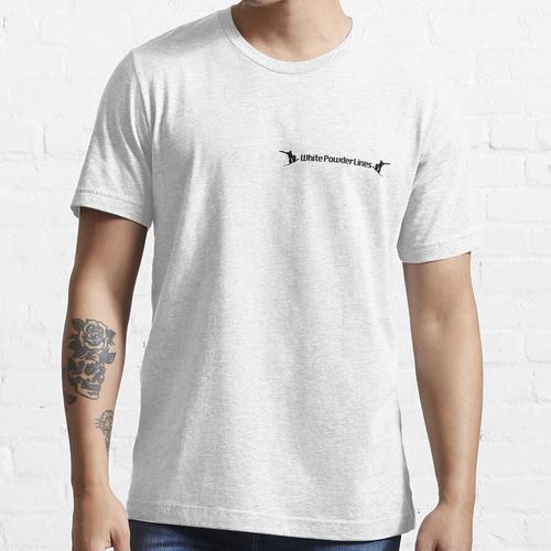 Weiße Pulverlinien Essential T-Shirt