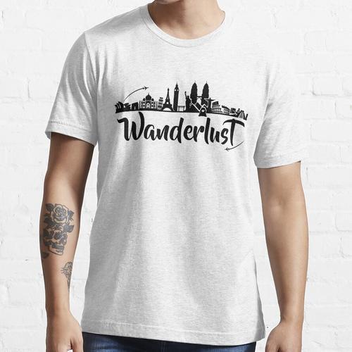 World Traveller Fernweh - Iconic Destinations - Traveller, Weltreise, Globetrotter Essential T-Shirt