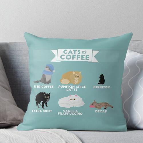 Katzen als Kaffee Kissen