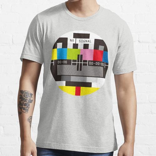 Fernseh-Testbildschirm Kein Signal Essential T-Shirt