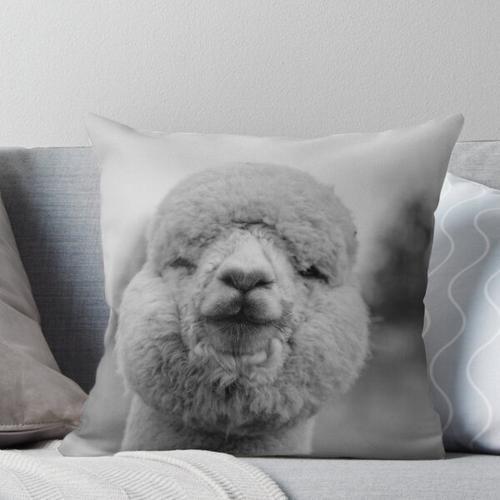 flauschiges Alpaka Kissen