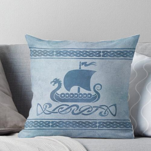 Drachenboot - Blau Kissen