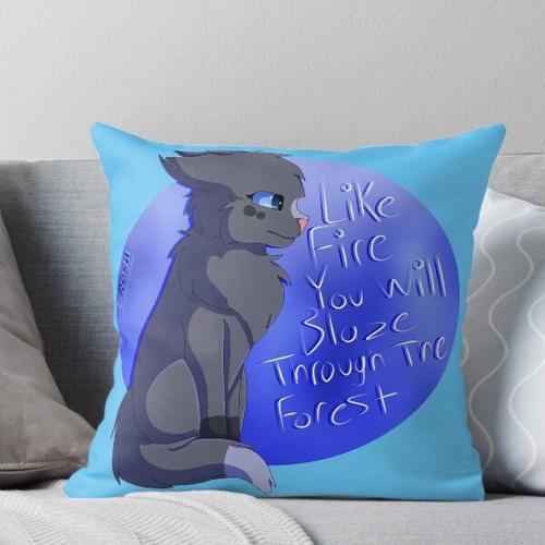 Blaustern, wie Feuer Kissen