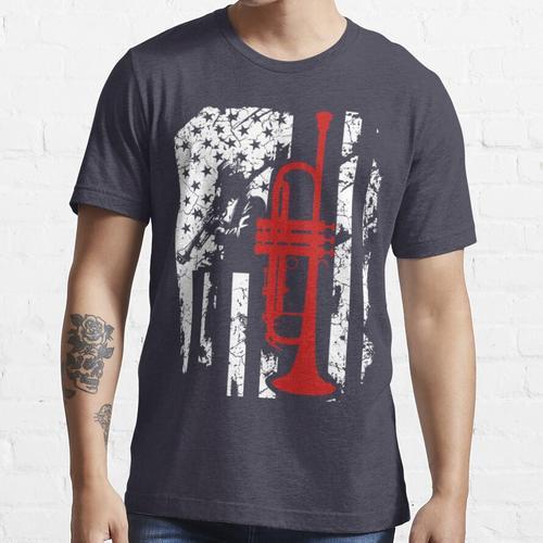 Trompete-Flagge amerikanisches T-Shirt Essential T-Shirt