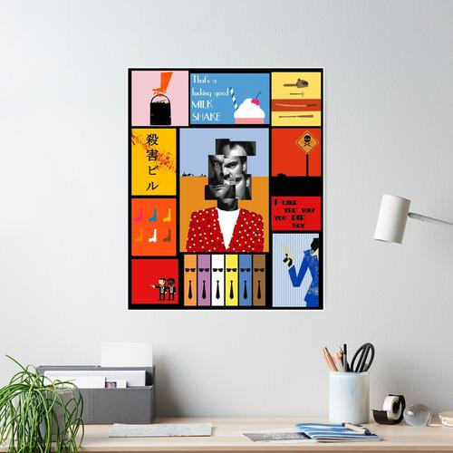 Tarantino, Tarantino Porträt Poster