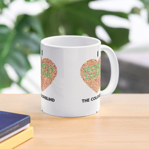 Ishihara Colorblind Test: I Heart the Colorblind (US-Rechtschreibung) Tasse