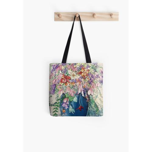 Vase mit Frühlingsblumen Tasche