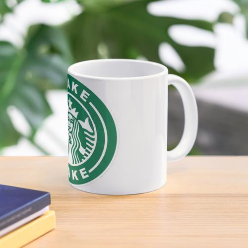 Wake & Bake Starbucks Logo Tasse