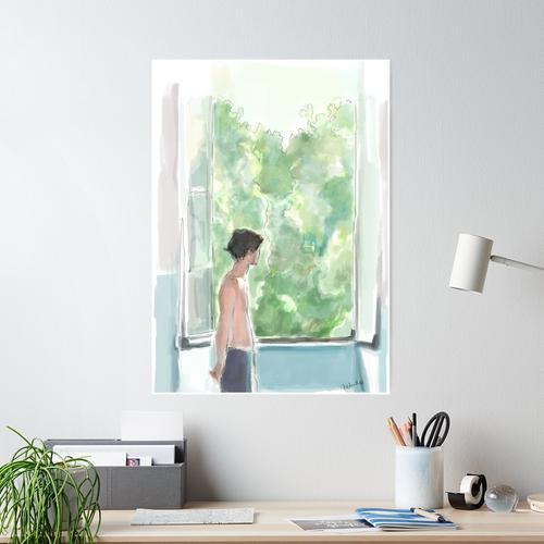 Elio am Fenster Poster