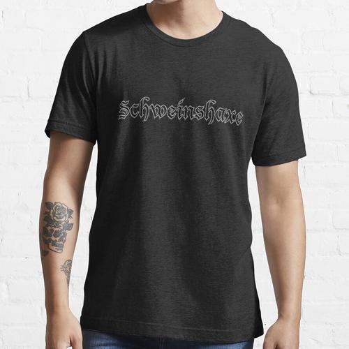 Lustige deutsche Wörter - Schweinshaxe Essential T-Shirt