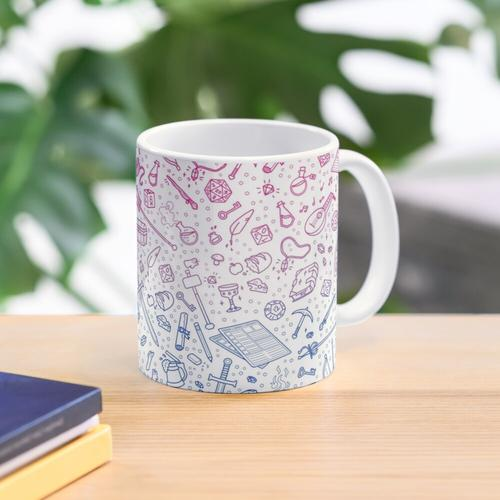 Tabletop RPG Pattern - Bi Flag Tasse