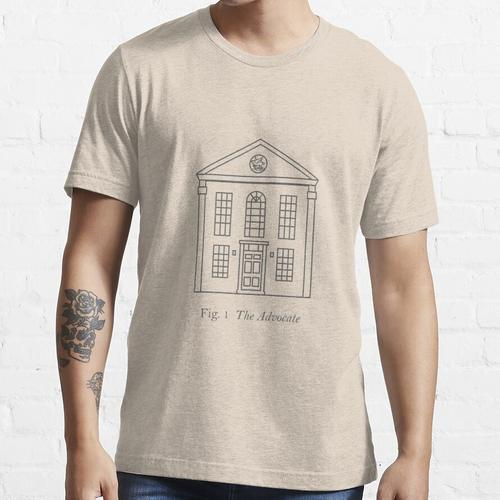 Anwaltbau - Abb. 1 (Grau) Essential T-Shirt