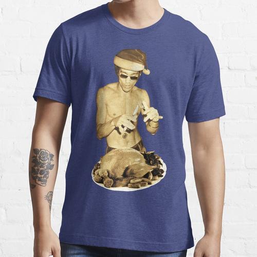Bruce Lee, der Weihnachtsessen isst Essential T-Shirt