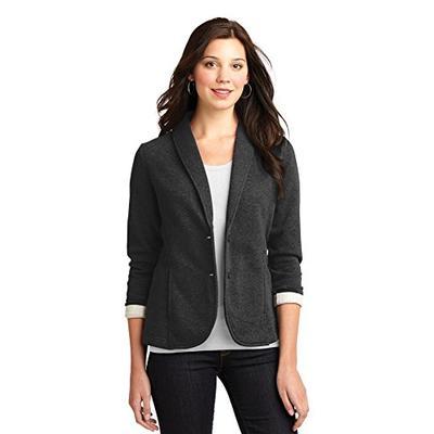 Port Authority Women's Fleece Blazer M Dark Charcoal Heather