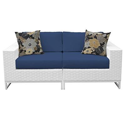 TK Classics MIAMI-02a-NAVY Miami Seating Outdoor Wicker Furniture, Navy