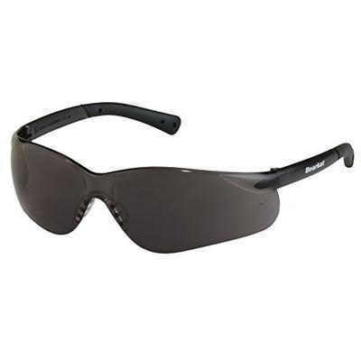 Crews BK312 Bearkat Safety Glasses Gray Frame w/ Gray Lens, (12 Pair)