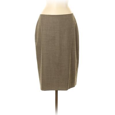 Ann Taylor Casual Skirt: Tan Bot...