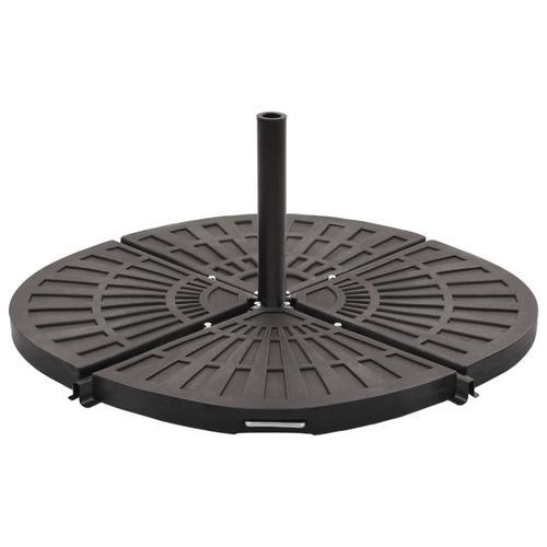 vidaXL Sonnenschirm-Gewichtsplatte Schwarz Fächerförmig 20 kg
