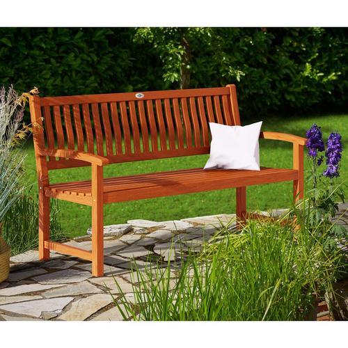 Gartenbank Maxima 3-Sitzer FSC®-zertifiziertes Eukalyptusholz In- & Outdoor Holzbank Sitzbank