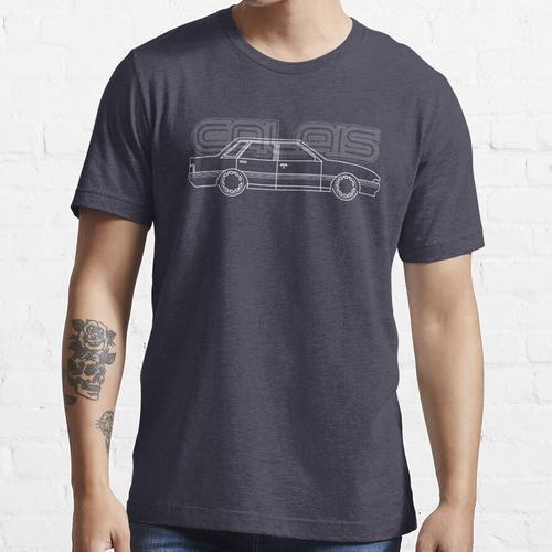 VL Calais mit Calais-Abzeichen weiß Essential T-Shirt