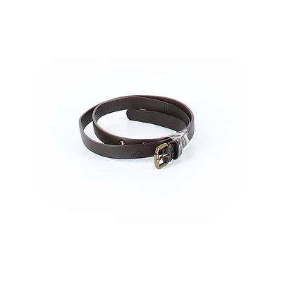 Belt: Brown Solid Accessories - Size X-Small