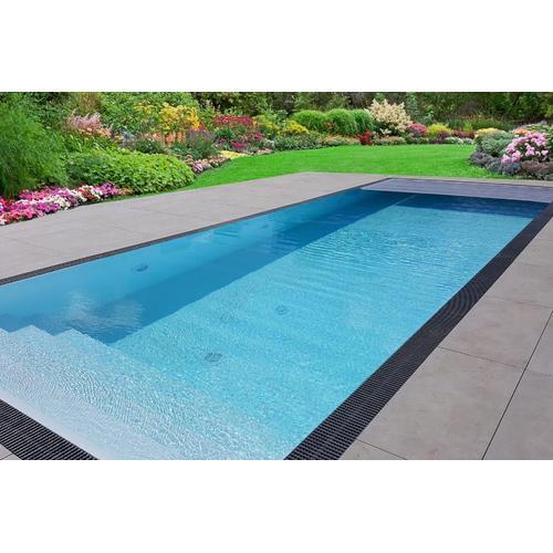 Pool-Komplettset Premium ONE® mit Überlauf 3,20 x 8,00m und elektrischem Rolladen / automatischer Pool-Abdeckung