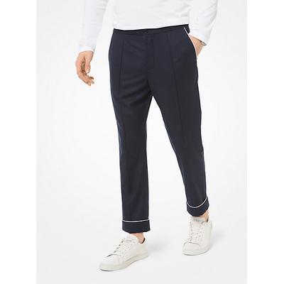 Michael Kors Woven Pajama Pants Blue 30
