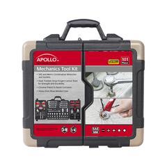 """Apollo Tools Tool Sets """"Red Black"""" - Black & Red 105-Piece Tool Set"""