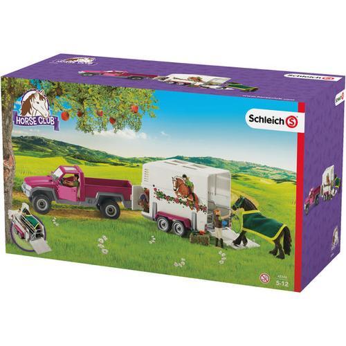 Schleich® Pick-up mit Pferdeanhänger, bunt