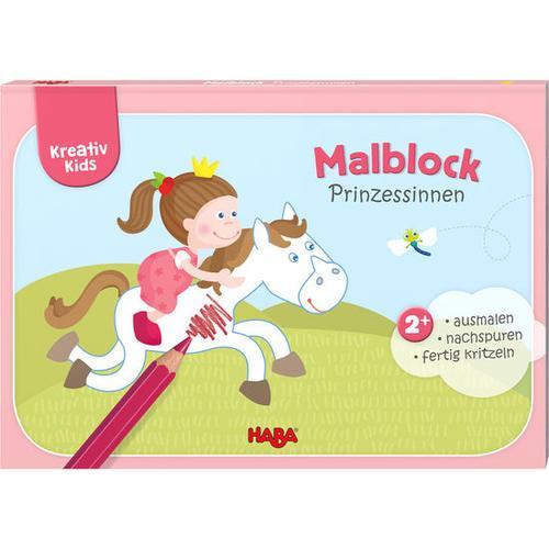 HABA Kreativ Kids – Malblock Prinzessinnen, bunt