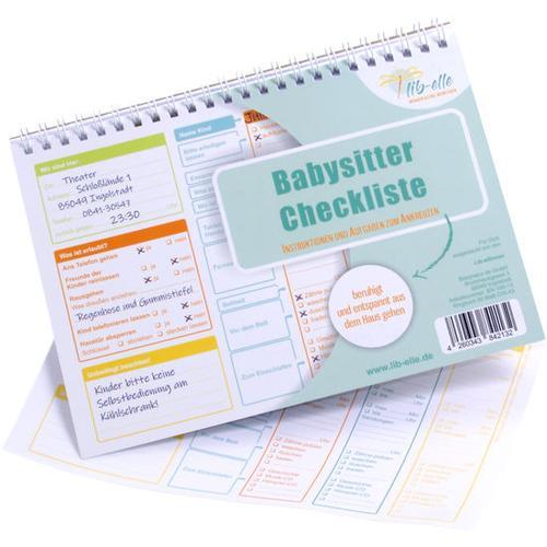 Babysitter-Checkliste, bunt