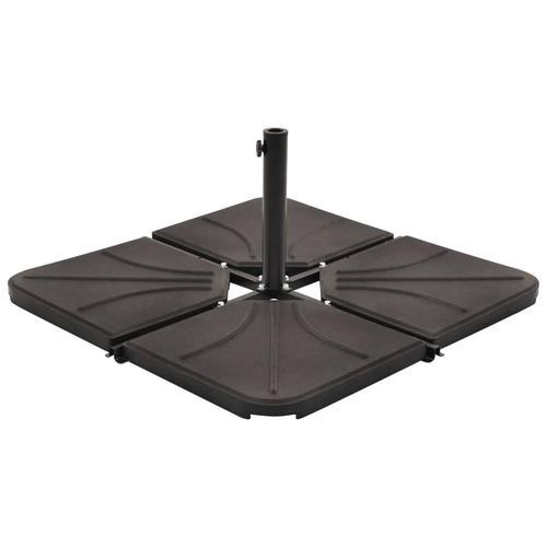 vidaXL Sonnenschirm-Gewichtsplatte Schwarz Beton Quadratisch 18 kg