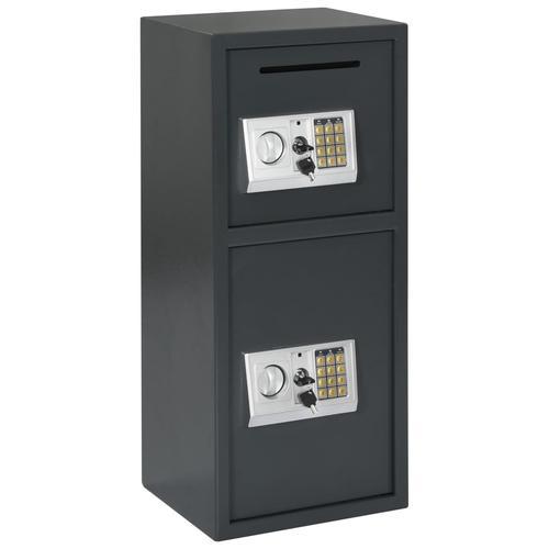 vidaXL Digitaler Tresor mit Doppeltür Dunkelgrau 35 x 31 x 80 cm
