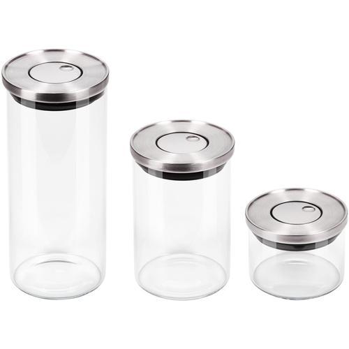 CHG Vorratsglas, (Set, 3 tlg.) farblos Aufbewahrung Küchenhelfer Haushaltswaren Vorratsglas