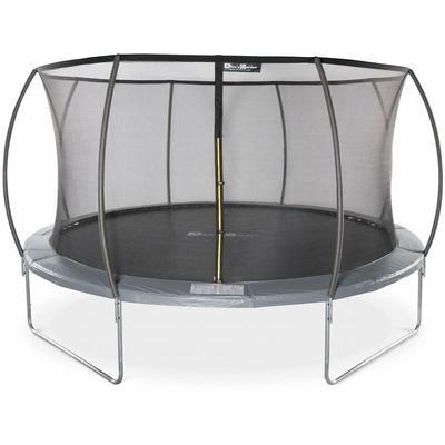 Trampoline rond Ø 430cm gris avec filet de protection intérieur - Venus Inner – Nouveau modèle