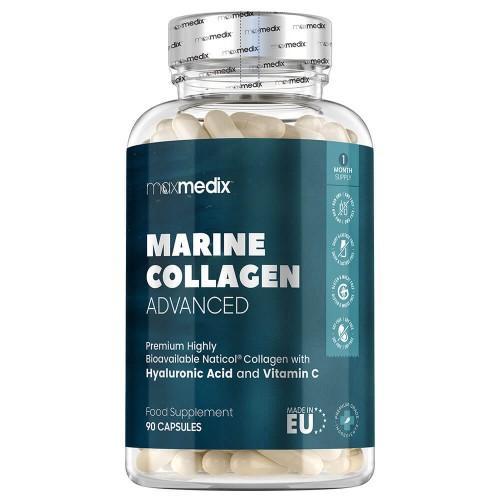 Anti Aging Meereskollagen - 90 Kapseln - Mit Hyaluronsäure & Coenzym Q10