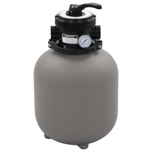 vidaXL Pool-Sandfilter mit 4-Wege-Ventil Grau 350 mm