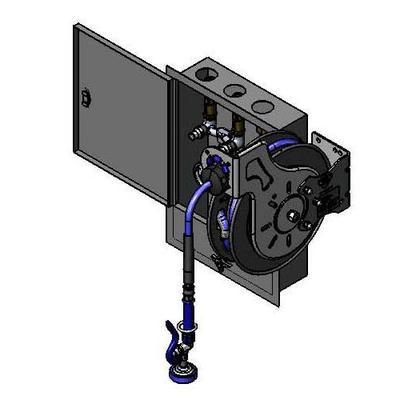 T&S B-7232-U01XS5 Open Hose Reel Assembly w/ 35 ft Hose, 3 12/25 GPM