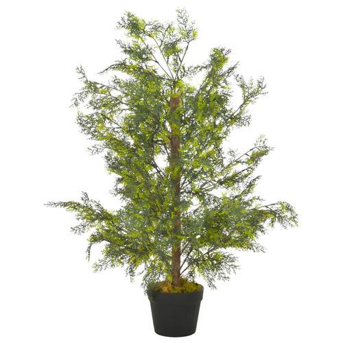 vidaXL Künstliche Pflanze Zypresse mit Topf Grün 90 cm