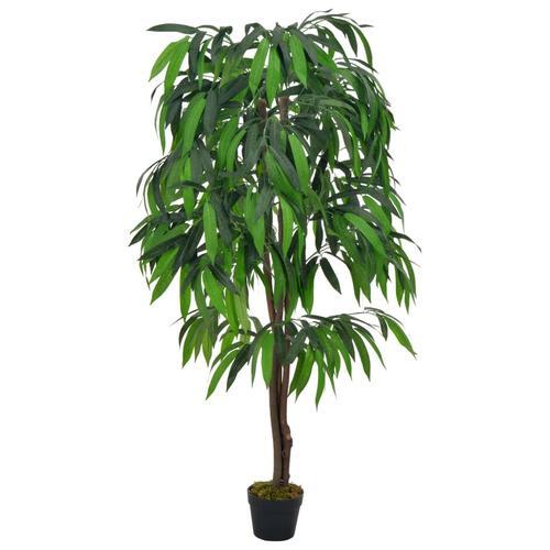 vidaXL Künstliche Pflanze Mangobaum mit Topf Grün 140 cm