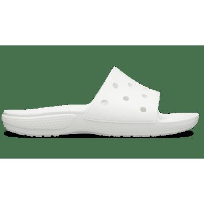 Crocs White Classic Crocs Slide ...