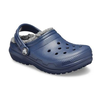 Crocs Navy / Charcoal Kids' Classic Lined Clog Shoes