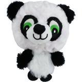 Multipet Knobby Noggins Squeaky Plush Dog Toy, Panda