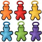 Multipet Cross-Ropes Tug 'O Man Squeaky Plush Dog Toy, Color Varies