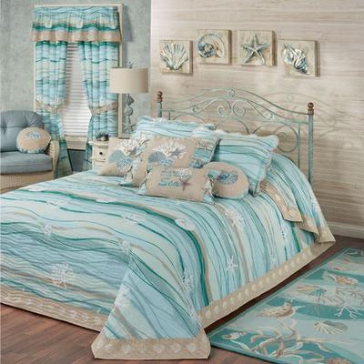 Seaview II Grande Bedspread Light Blue, Queen, Light Blue