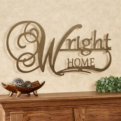 Affinity Home Personalized Metal Wall Art Sign Home, Home, Black