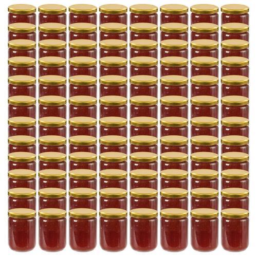 vidaXL Marmeladengläser mit Goldenem Deckel 96 Stk. 230 ml
