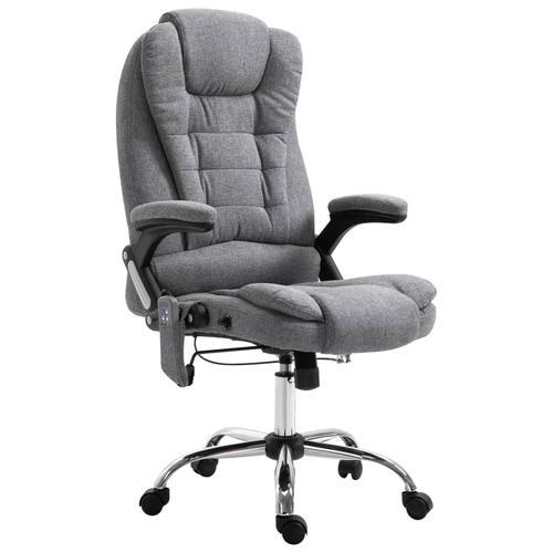 vidaXL Massage-Bürostuhl Grau Polyester