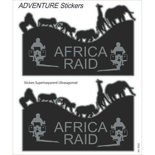 Booster Africa Raid Aufkleber Set, schwarz