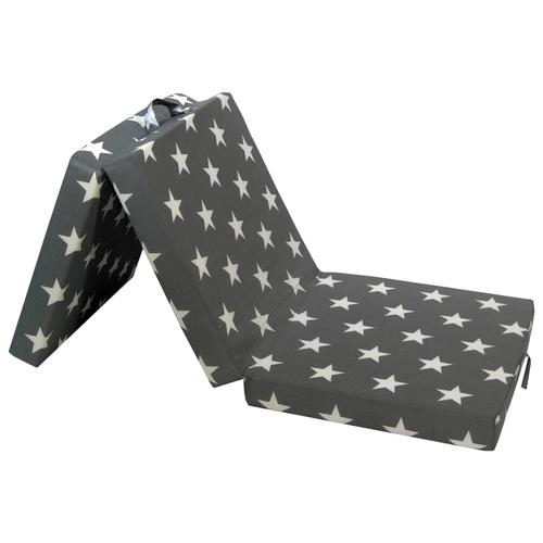 vidaXL 3-teilige Klappmatratze 190×70×9 cm Grau